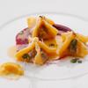 ビオディナミコ - 料理写真:[ランチ] 鹿すね肉のファゴッティーニ ビーツピューレとレモンマルメラータ