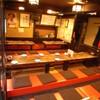 広島 酒呑童子 - 内観写真:寛ぎの掘り座敷は36名様まで。貸切は28名様~OK!少グループから大人数宴会まで気軽に寛げます。