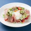YUGEYA - 料理写真:生ハムのシーザーサラダ温卵のせ