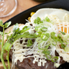 IRIS - 料理写真:てりマヨハンバーグと目玉焼き