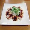 星期菜 - 料理写真:【 自然豚のボイル・ぴり辛ソース 】とろけるような肉質と四川ソースの調和。