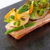カンテサンス - 料理写真:フォアグラと日向夏のあたたかいタルト