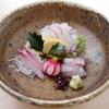 そば会席 立会川 吉田家 - 料理写真:天然真鯛のお造り