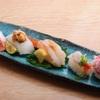 ときすし - 料理写真:乗せ三昧  1050円 サーモンイクラ乗せ イカウニ乗せ 赤エビエビ塩乗せ カワハギ肝乗せ カニカニ味噌乗せ