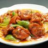 永利 - 料理写真:揚げスペアリブの甘酢風味