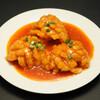 永利 - 料理写真:揚げ白身魚の四川麻辣醤かけ