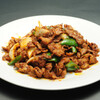 永利 - 料理写真:ラム肉の中国クミン辛味炒め