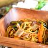島野菜バーベキュー 炎空 - 料理写真:八重山そばの焼きそばは、もちもち麺の食感が最高!!