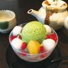 新宿御苑 ろまん亭 - 料理写真:白玉クリームあんみつ ドリンク付き 1000円