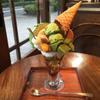 新宿御苑 ろまん亭 - 料理写真:抹茶パフェ ドリンク付き 1500円