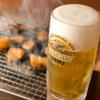 炭火七輪 炭きち - ドリンク写真:ホルモン×ビールは鉄板の相性◎ 暑い季節には最高です