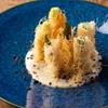 サインポスト - 料理写真:グリーンアスパラのカダイフ焼き バーニャカウダソース