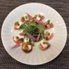 ときすし - 料理写真:熊本産八兵衛トマトとクリームチーズの茎わさびのせ