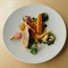 B - 料理写真:地キンメタイのクルート ラングスティーヌと春菊のソース