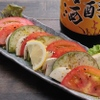 ときすし - 料理写真:フレッシュトマトと水茄子のカプレーゼ