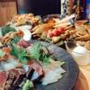 ちょっぺん - 料理写真:刺身み、やきとり、おでんが入った定番コース