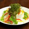 海八 - 料理写真:海ぶどうと島豆腐のサラダです。ドレッシングもさっぱりとしています。