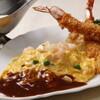 洋食 麻布満天星 - 料理写真:「ワンプレートミックス」。オムレツライスとエビフライ。