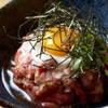 まんぷく - 料理写真:黒毛和牛のタレユッケ