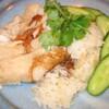 馬来風光美食 - 料理写真:海南鶏飯(ホイナムカイファン) 茹で鳥のせご飯 800円