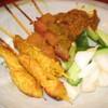 馬来風光美食 - 料理写真:Satay(サテ) マレー風焼き鳥  600円(4本)  700円(6本)
