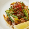 だれかれ - 料理写真:砂肝のねぎ炒め