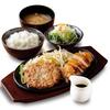 焼肉美食亭 いわや - 料理写真:ハンバーグ&地鶏ランチ