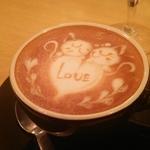 まさに芸術 ラテアートが上手なカフェ♪