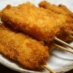 広島で食べる串揚げ撰。