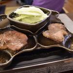義経鍋(焼肉・ジンギスカン)が食べられる、長野県諏訪地方近隣のお店。味噌だれ焼肉。