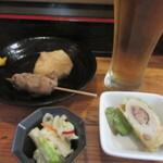 その1.仙台市営地下鉄沿線で晩酌セット。女性も一人飲みできるお店