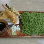 釧路の蕎麦屋さん...緑の蕎麦シリーズ(^^;)