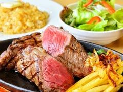 炭火焼きステーキ 肉押し