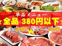 全品380円以下 焼肉かっちゃん 尼崎アマドゥ店