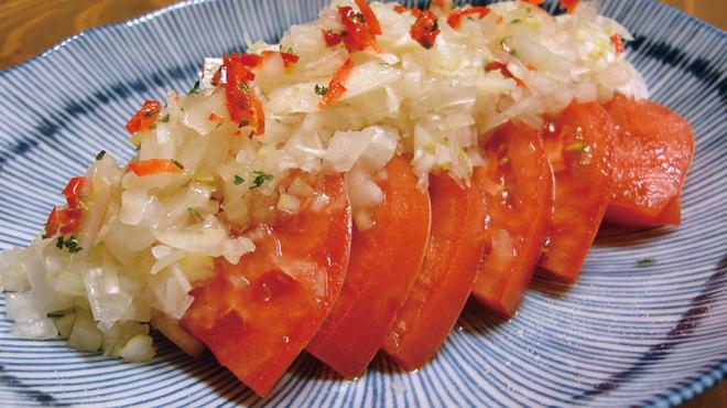鳥番長 - 料理写真:ネギネギトマト