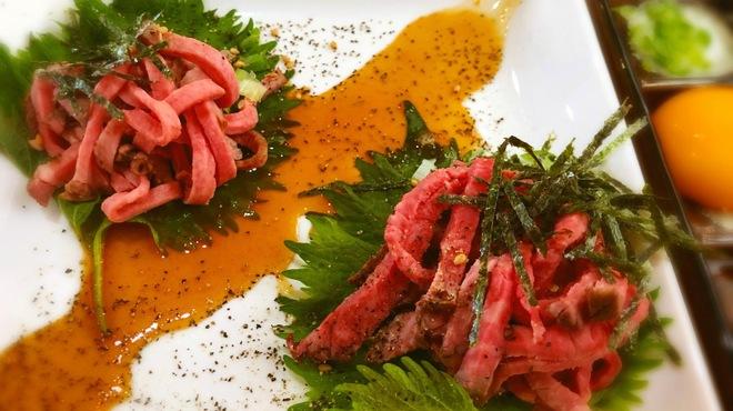 明 - 料理写真:魅惑のローストビーフユッケ