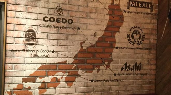 ビアバルNAGAOKAYA - 内観写真:国内のビールもドラフトで!