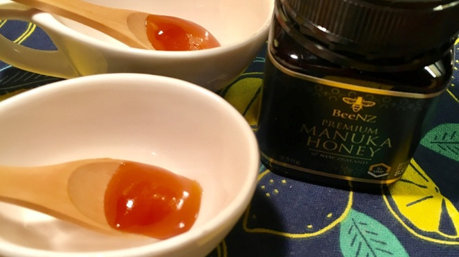 ボクモ - 料理写真:店頭販売中のニュージーランド産マヌカハニーの味見メニューもあります。