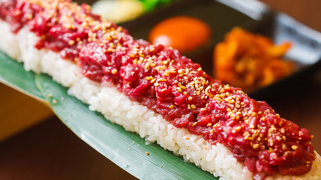 #肉寿司#野菜巻き串#熟成魚 ハッシュタグ - メイン写真: