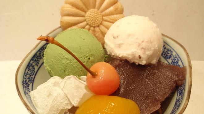 菊丸 - 料理写真:あんみつ春若草    ¥850