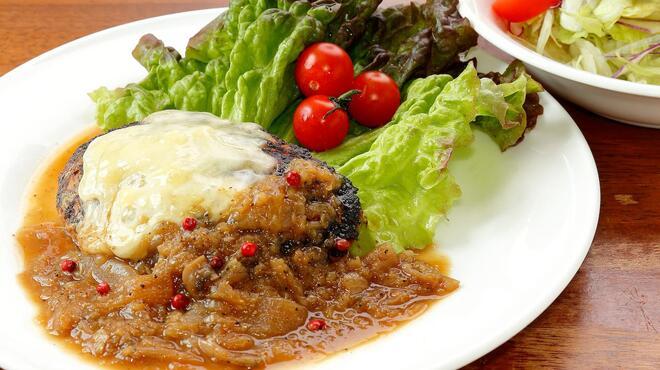 サラダの店サンチョ - 料理写真:期間限定『新玉葱と黒胡椒のハンバーグとサラダ』