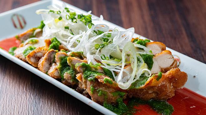 創作和食 だん - メイン写真:美桜鶏もも一枚揚げ 葱ソース