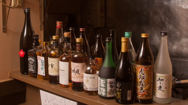 虎っき - ドリンク写真:お酒カウンター