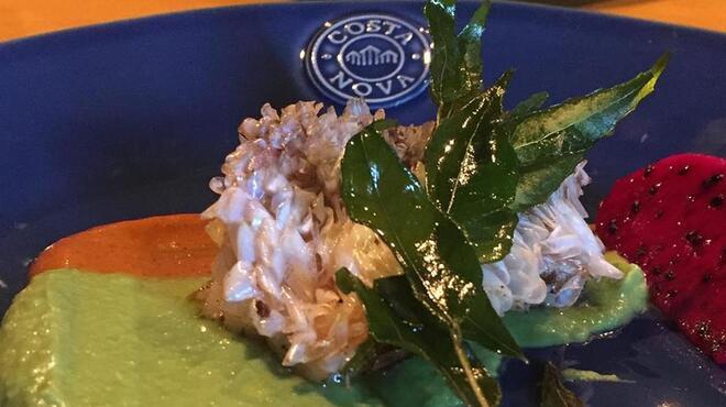 Spice&Dining KALA - 料理写真:甘鯛のポワレ サボテンとラズベリーのソース