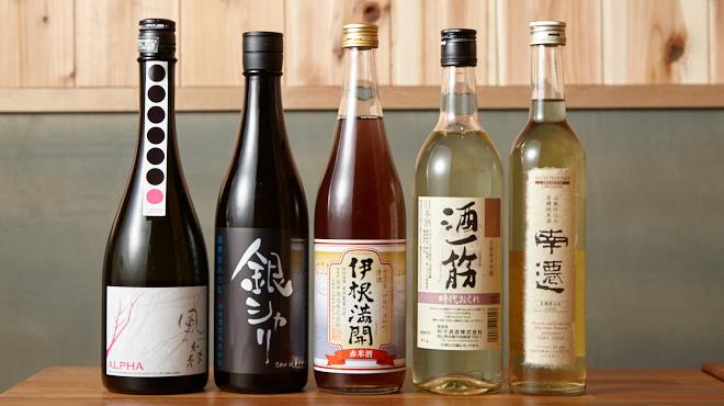 日本酒バル どろん - メイン写真:日本酒ボトル2