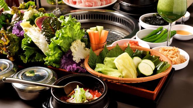 Wine:Korean sampa - メイン写真:オリジナルサンパセット_野菜アップ