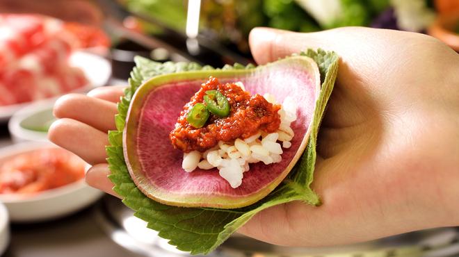 Wine:Korean sampa - メイン写真:サンパの食べ方