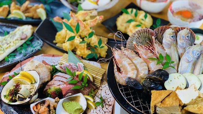 貝と魚と日本酒 貝男  - 料理写真:海賊焼き貝長コース