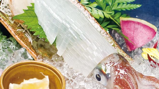 博多 弁天堂 - 料理写真:呼子 イカ活造り