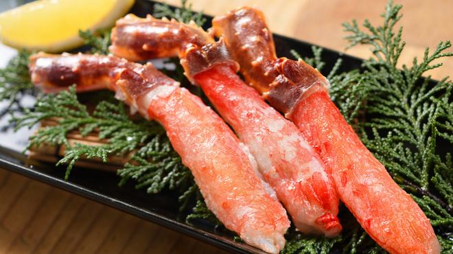和火一 - 料理写真:どちらか選べる【鮑の踊り焼きorタラバ蟹焼きコース】